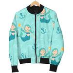 Mermaid Blue Pastel Pattern 3D Printed Unisex Jacket
