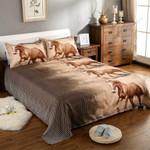Brown Horse Run Desert 3D Bedding Set Bedroom Decor