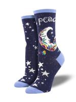"Women's Laurel Burch ""Peaceful Moon"" Socks Comfortable Funny Cute Unique Socks"