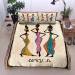 African Girls Wear Dress African Style Bedding Set Bedroom Decor