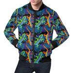Pattern Colorful Lizard  3D Printed Unisex Jacket