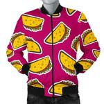 Taco Pink Pattern 3D Printed Unisex Jacket