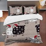 Sheep Black And White Printed Bedding Set Bedroom Decor