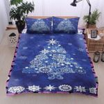 Blue Christmas Tree Bedding Set Bedroom Decor