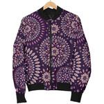 Purple Bohemian Mandala Pattern  3D Printed Unisex Jacket