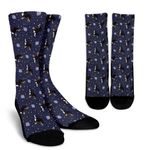 Space Bernese Mountain Dog Printed Crew Socks
