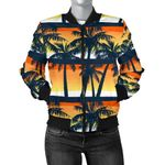 Palm Tree Sunset Pattern 3D Printed Unisex Jacket
