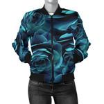 Blue Camellia Pattern 3D Printed Unisex Jacket