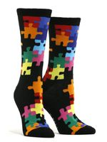 Women's Jigsaw Puzzle Socks Comfortable Funny Cute Unique Socks