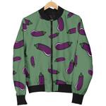 Eggplant Pattern 3D Printed Unisex Jacket
