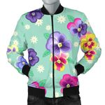 Colorful Pansy Pattern 3D Printed Unisex Jacket