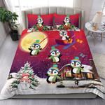 Penguin Christmas Funny Playing Together Bedding Set Bedroom Decor