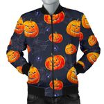 Pumpkin Halloween Space Pattern 3D Printed Unisex Jacket