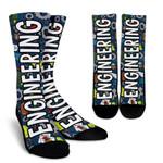 Engineering Colorful Design  Printed Crew Socks