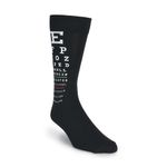 Eye Chart Black And White Printed Crew Socks
