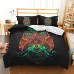 Lightning Viking Owl Printed Bedding Set Bedroom Decor