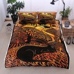 Cool Rabbit Black Zebra Pattern Bedding Set Bedroom Decor