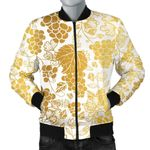 Gold Grape Pattern 3D Printed Unisex Jacket