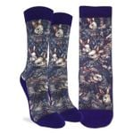 Rabbits And Snails Oil Painting Printed Crew Socks