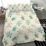 Turtle Colorful  Printed Bedding Set Bedroom Decor