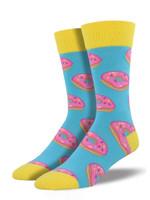 "Men's ""Mmm, Donuts"" Socks Comfortable Funny Cute Unique Socks"