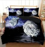Wolf Water At Night Bedding Set Bedroom Decor