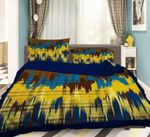Yellow Shape Paint Printed Bedding Set Bedroom Decor