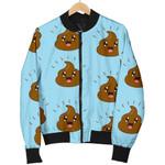 Poop Emoji Pattern In Blue 3D Printed Unisex Jacket