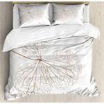 Hand Drawn Flower White Printed Bedding Set Bedroom Decor