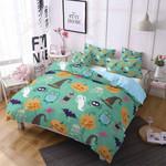 Green Halloween  Printed Bedding Set Bedroom Decor