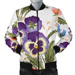 Plant Pansy Pattern 3D Printed Unisex Jacket