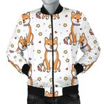 Shiba Inu Unicorn Costume Horn Colorful Tail Pattern 3D Printed Unisex Jacket