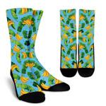 Banana Leaf Pattern Print Unisex Crew Socks
