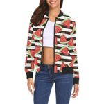 Piece Watermelon Stripe Black Pattern 3D Printed Unisex Jacket