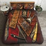 Vintage Barber Collection Bedding Set Bedroom Decor