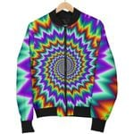 Psychedelic Spiral Optical Illusion  3D Printed Unisex Jacket