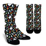 Collection Of Pharmacist Pattern  Printed Crew Socks