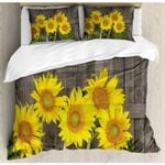 Sunflowers Stands Forward Sun Printed Bedding Set Bedroom Decor