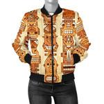 Hawaiian Polynesian Tiki Pattern Wood 3D Printed Unisex Jacket
