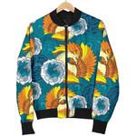 Phoenix Pattern Blue Floral 3D Printed Unisex Jacket