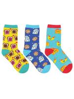 """Kid's """"BFF (Best Foods Forever)"""" 3-Pack Socks Lovely Birthday Gift Comfortable Unique Socks"""