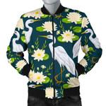 Heron Lotus Flamingo Pattern 3D Printed Unisex Jacket