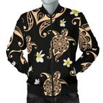 Turtle Polynesian Tribal Hawaiian 3D Printed Unisex Jacket
