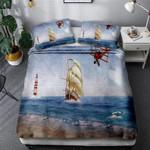 Boat On Sail Printed Bedding Set Bedroom Decor