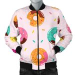 Donut Pattern Glaze Pink Background 3D Printed Unisex Jacket