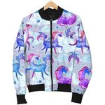 Unicorn Paradise Pattern 3D Printed Unisex Jacket