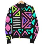 Neon Native Aztec Pattern 3D Printed Unisex Jacket
