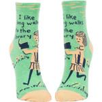 I Like Long Walks To The Library Lovely Birthday Gift For Men Women Comfortable Unique Socks