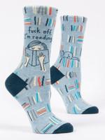Blue Q Fuck Off, I'm Reading Birthday Gift Ideas For Men Women Cotton Funny Comfortable Cute Unique Socks