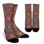 Flying Fish Mandala Bohemian Style Printed Crew Socks
